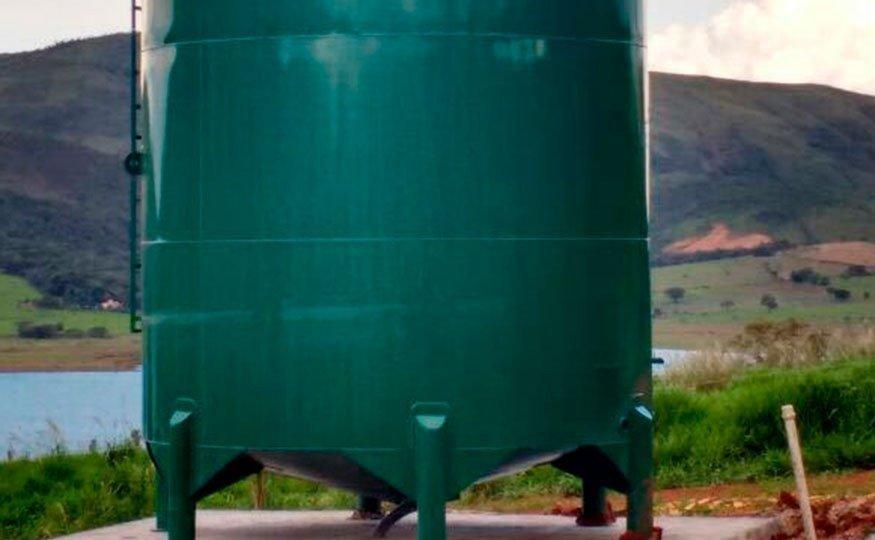 Fabricado por Aço Carbono, o Reservatório de Água 40000 litros é perfeito para pequenas propriedades rurais