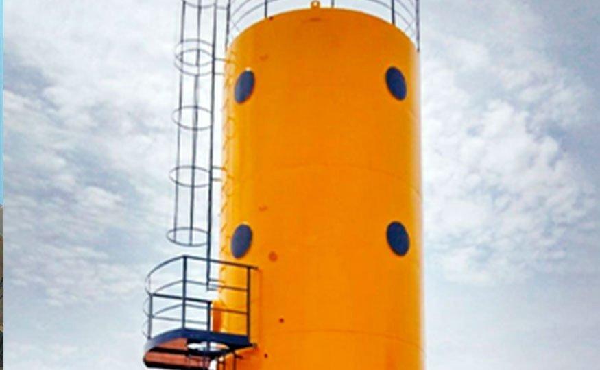O Reservatório Cilíndrico de Água pode ser vertical ou horizontal