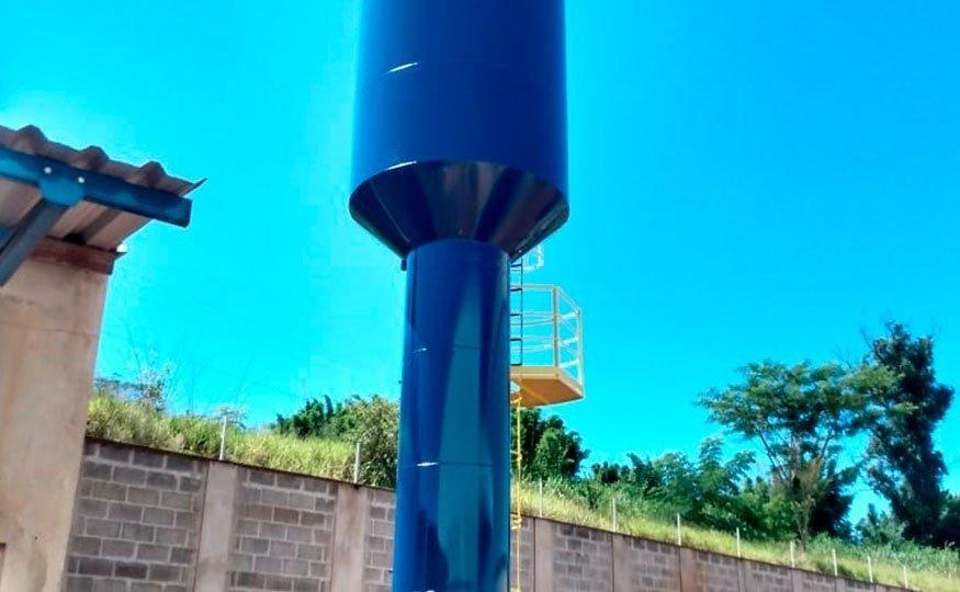 O Castelo d'Água tipo Taça pode ser de coluna seca ou tradicional