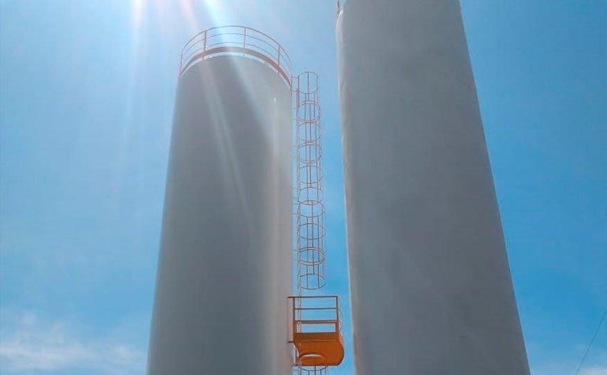 O Reservatório de Água tubular pode suportar até 250 mil litros d'água em suas estruturas